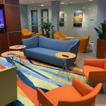 Waiting area of Postpartum Wellness in Bethesda, MD